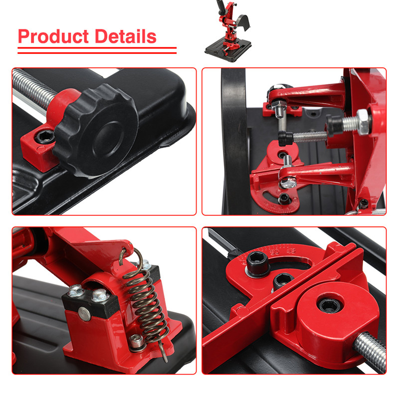 Angle Grinder Stand For 100-125 Angle Grinder Bracket Holder Woodworking Tool DIY Cutting Cast Iron Base Power Tools Accessories (8)