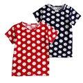 Kids 2017 Summer Print Women's Round Shirt Short Sleeve T-Shirt baby girl clothes 2 3 4 5 6 7 8 years old