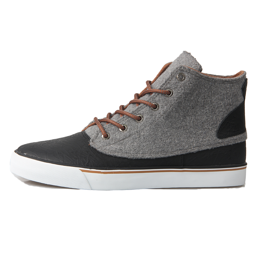 TWEAK Men Boys Classic High Top Sneakers Sport Shoes Black Grey Skateboarding Shoes Flat Lace up Trainers Genuine Leather 2017 hobibear classic sport kids shoes girls school sneakers fashion active shoes for boys trainers all season 26 37