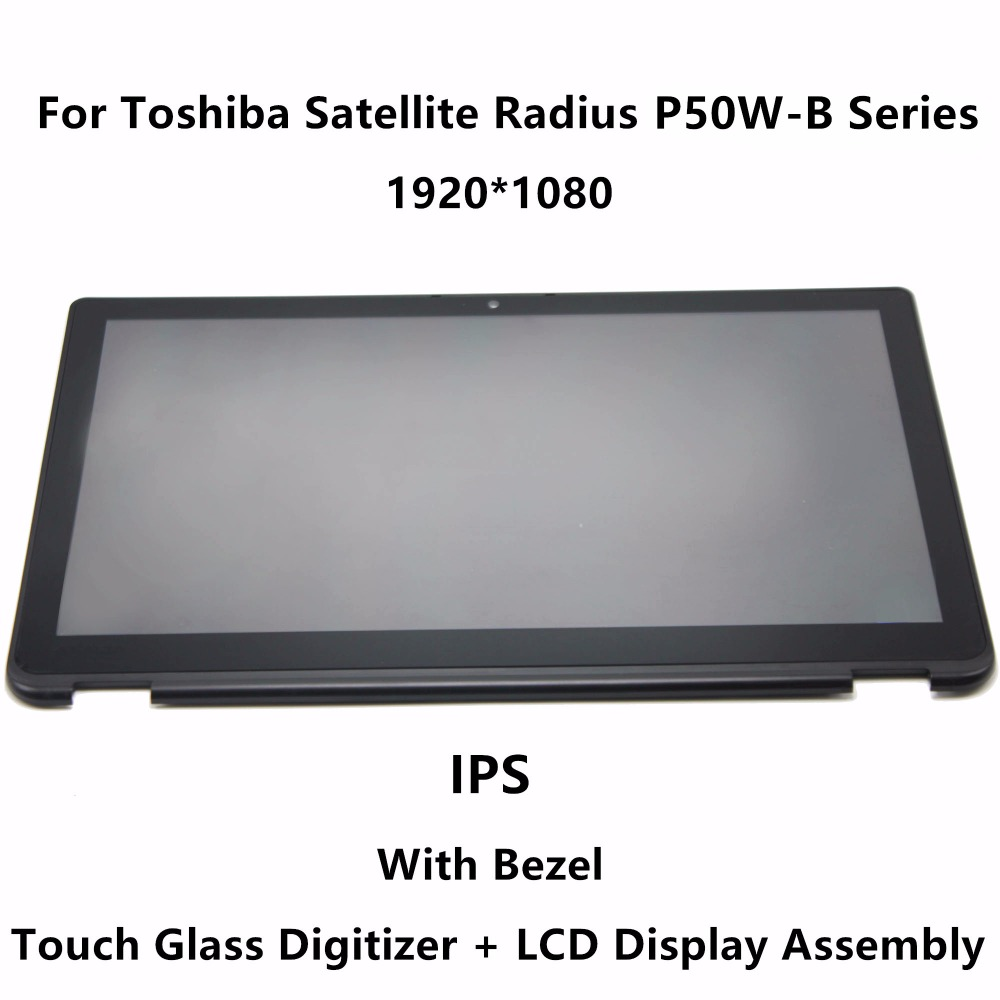 15.6''IPS Panel Panel LCD Szkło Digitizer Montaż + Ramka do Toshiba Satellite Radius P55W-B Series P55W-B5220 P55W-B5318
