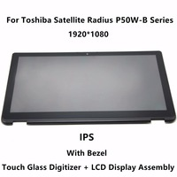 15 6 Laptop LCD Display Touch Screen Assembly Frame LP156WF5 SPA2 For Toshiba Satellite P50W B