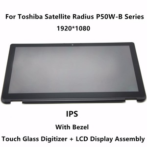 LCD Tela de Toque Digitador Assembléia Vidro + Moldura Para Toshiba Satellite Radius P55W-B Série P55W-B5220 P55W-B5318 P55W-B5260SM