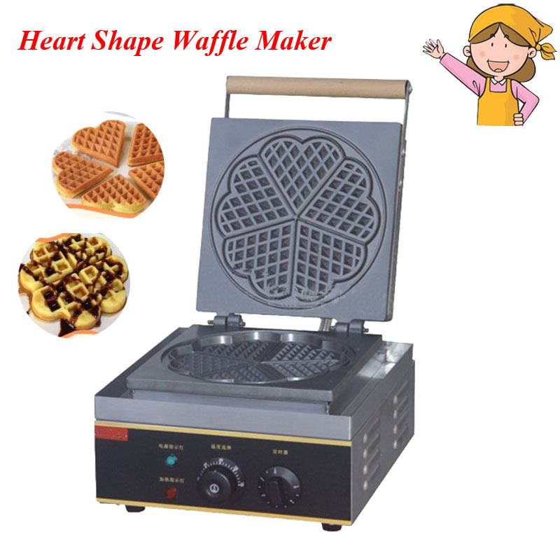 1pc Electric Heart Shape Mould Waffle Maker Mini Plaid Cake Furnace Heating Machine FY-215