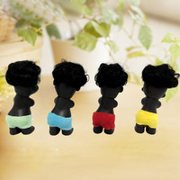 4 pcs/set personalized hot children's toy gift Joy / anger / sorrow / happiness Black Doll BB Decoration