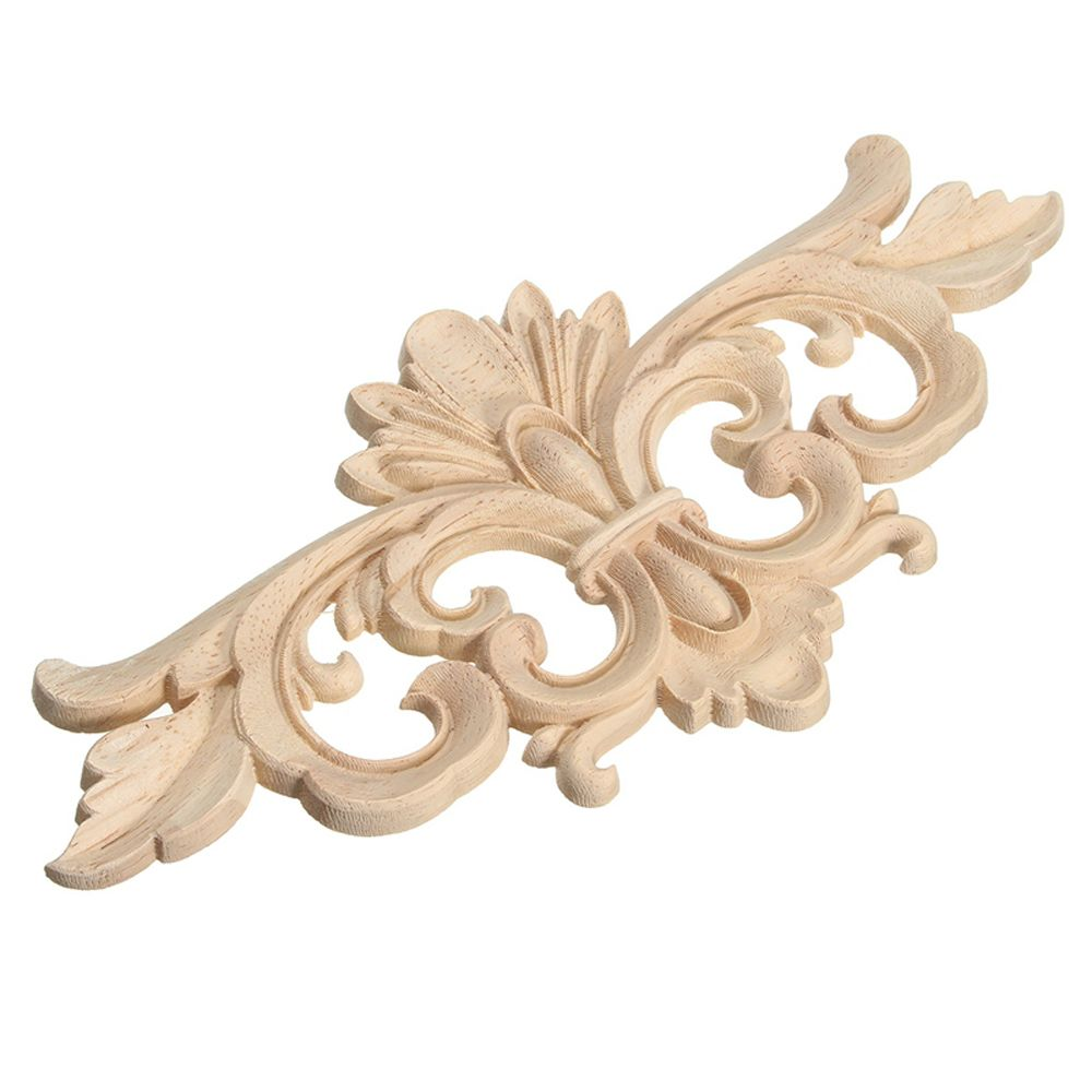 1 Piece Carving Wood Decoration Wood Furniture Wooden Applique Decal Corner Onlay Applique Frame For Vintage Home Decor