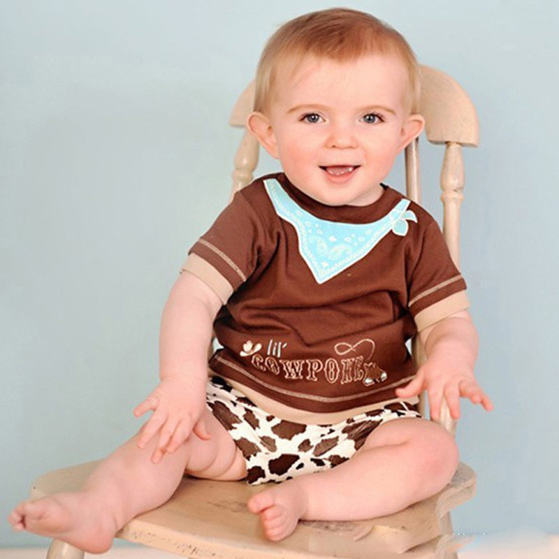 Baby Clothing Set Fashion Short Sleeve T Shirt Short Pants Cowpoke Summer Children Clothing Boy Clothes Kids Boys Clothing Sets