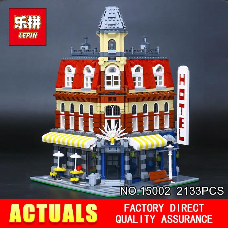 LEPIN 15002 2133 pz Cafe Angolo Modello Blocchi di Costruzione Mattoni Educativi Giocattolo Modello Regalo Compatibile Con 10182 per I Bambini