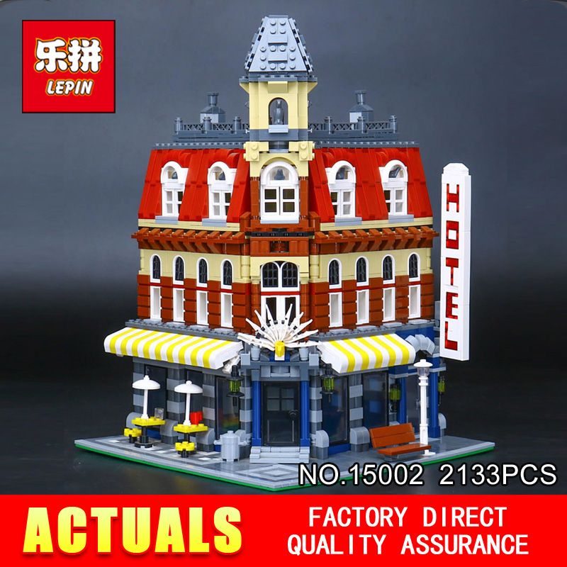 LEPIN 15002 2133Pcs Cafe Corner Model Building Blocks Bricks Educational Toy Model Gift Compatible With 10182 for Children new lepin 15002 2133pcs cafe corner model building kits blocks kid diy educational toy children day gift brinquedos 10182