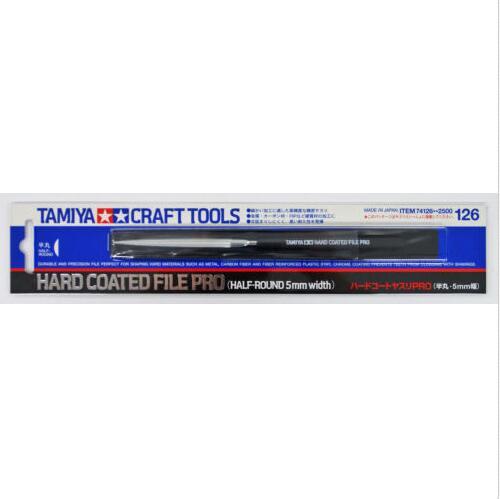 Tamiya 74126 outils manuels lime à revêtement dur PRO (largeur demi-ronde 5mm)