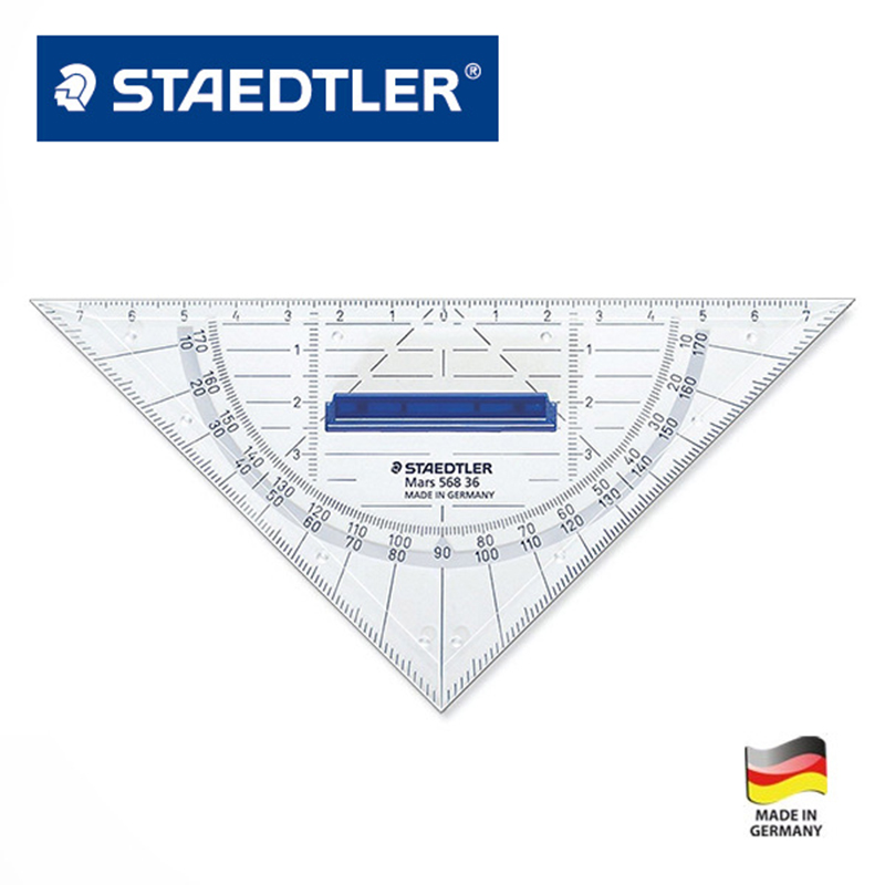 STAEDTLER 568 36 16cm Geometric | Drawing Triangular Plate Stationery Office Accessories School Supplies