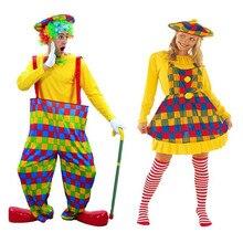 Adultos coloridos amantes de palhaço mulher homem palhaço cosplay trajes masquerade festa decoração ano traje natal dia das bruxas