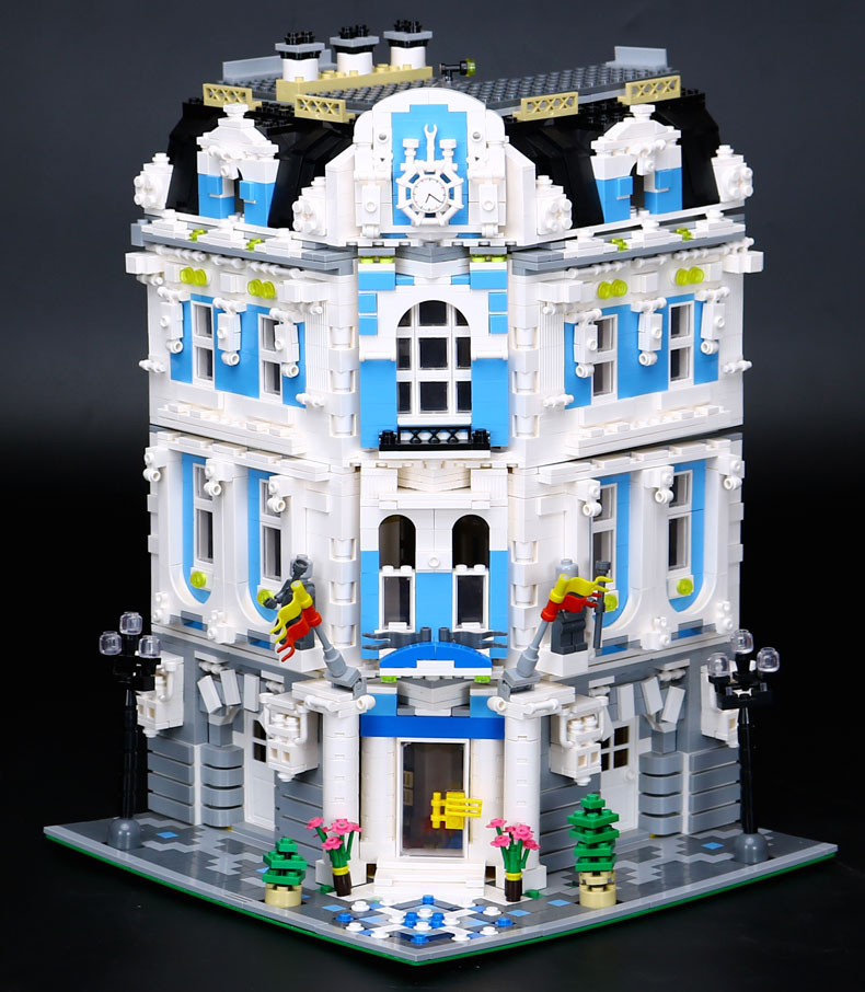 New 3196pcs Lepin 15018 MOC City Series The Sunshine Hotel Set Building Blocks Bricks Educational Funny Toys цена и фото
