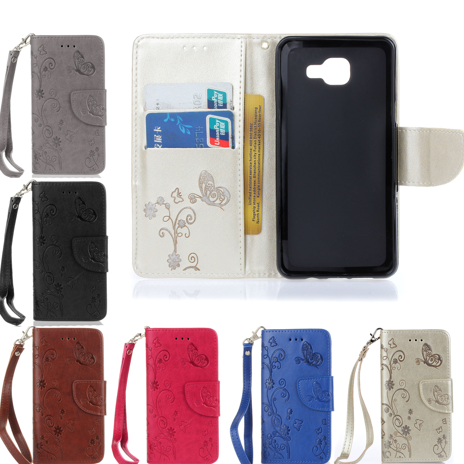 Phone Phone Cases Android online buy wholesale android phone case wallet from china embossed butterfly leather flip cases cover for samsung galaxy a3 2016 a310 smartphone