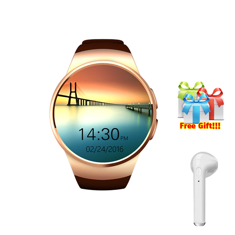 Original Kingwear SmartWatch+earphone/set smart watch women support TF/SIM card  Bluetooth 4.0 watches for men gold VS KW28 KW88Original Kingwear SmartWatch+earphone/set smart watch women support TF/SIM card  Bluetooth 4.0 watches for men gold VS KW28 KW88