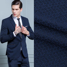 Handsome men's suits formal occasions jacquard fabrics business suit a grain of buckle two-piece jacket + pants custom