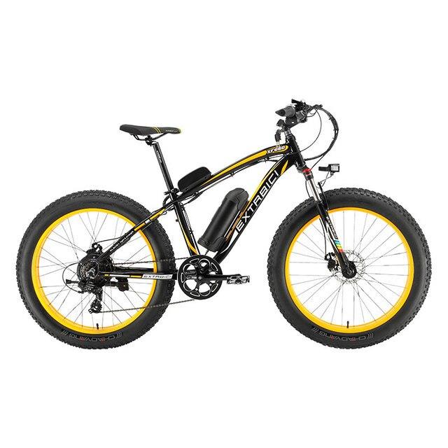 """Extrbici человек XF660 48 В 500 Вт Электрический горный велосипед 7 скоростей 26 """"4,0 жира шин ebike Li- аккумулятор гидравлические дисковые тормоза Снег велосипед"""