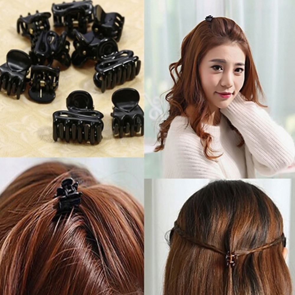 New Fashion Random Pattern Beauty Hair Accessory 10pcs/Pack Hair Accessory Small Gripper Hairpin Side Bangs Clip Female