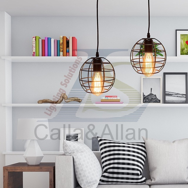 Industrial bird cage lampshade pendant lamp loft style metal lamp industrial bird cage lampshade pendant lamp loft style metal lamp shade pendant lighting fixture dining room aloadofball Image collections