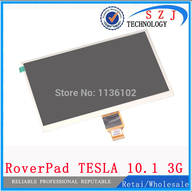 New 10.1 inch for RoverPad TESLA 10.1 3G Tablet PC TFT LCD display Screen Matrix Replacement Panel Parts Free Shipping original and new 8inch auo b080ean01 1 08b15 c02 ips lcd display screen panel for tablet pc free shipping