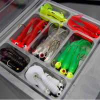 21Pcs/Set Mini Soft Fishing Lure Lead Jig Head Hook Grub Worm Silicone Fish Baits for Ocean Carp BHD2