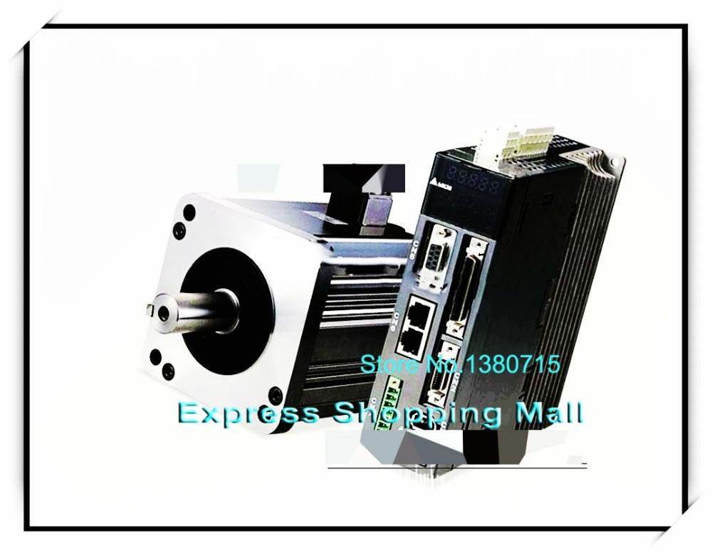 ECMA-C10604RH ASD-A2-0421-L AC Servo Motor & Drive kits 220V 400W 1.27NM 3000r/min new 400w delta ac servo motor and drive with brake and oil seal new asd a2 0421 u ecma g11303ss