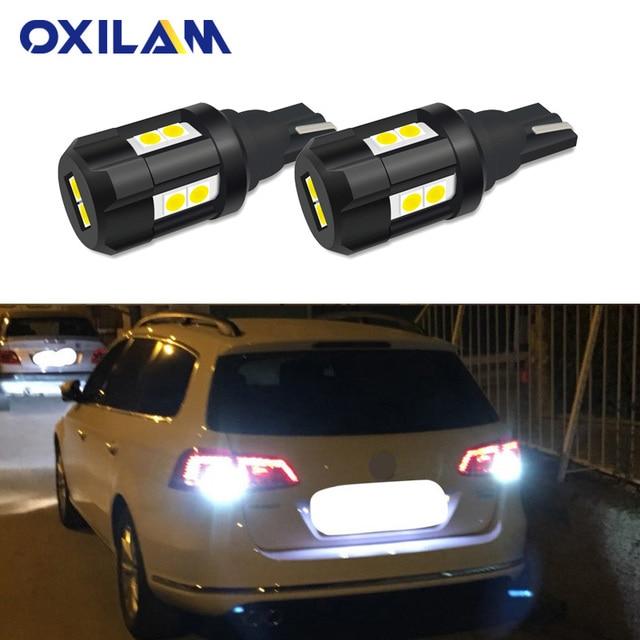 2x W16W LED Bombilla inversa para Volkswagen VW CC GTI Passat B7 a lámpara de coche 912 921 T15 LED Canbus No Error blanco 12 V
