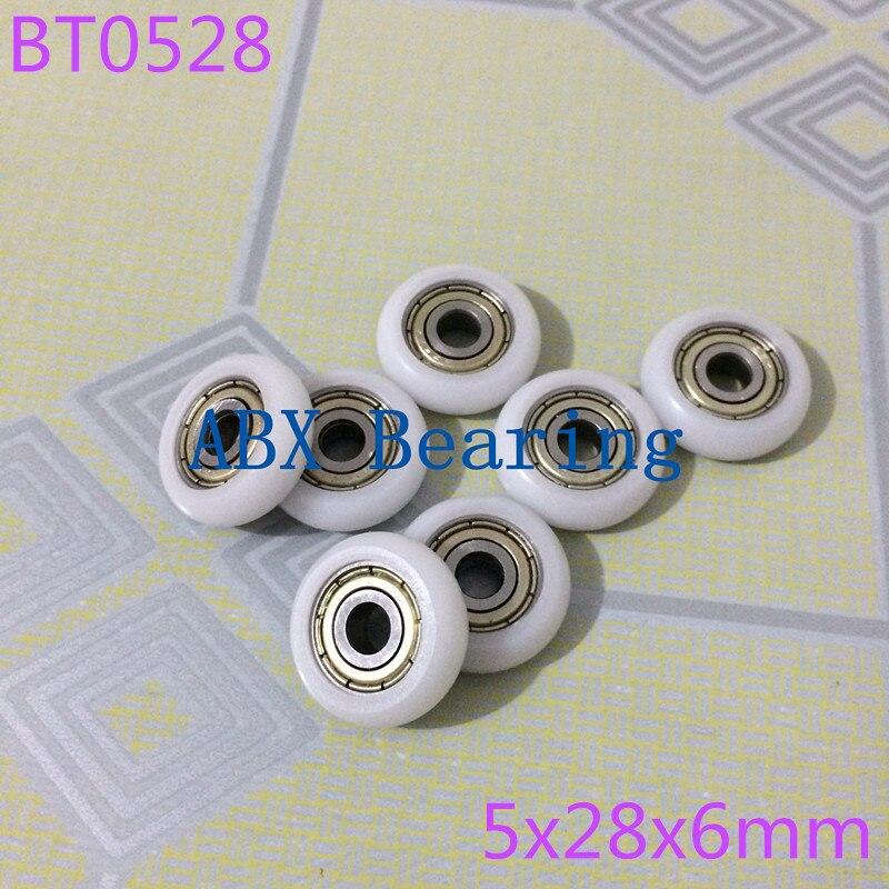 BT0528 0528T 625ZZ 625 POM Nylon wheel bearing 5x28x6MM with pulley door window bearing