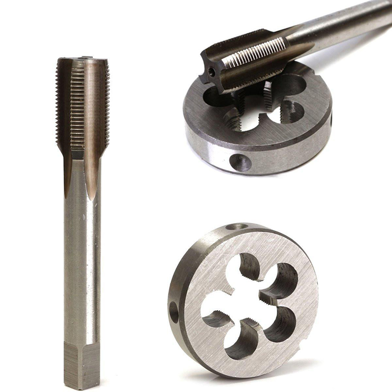 1/2-28 UNEF 5/8-24 UNEF Hand Tap Round Die Cut HSS Right Hand Tapping Tool for Hand Tap Tools Tapping Set цена