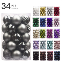 4cm 34pc Christmas Tree Decoration Ball Party Hanging Home Gift