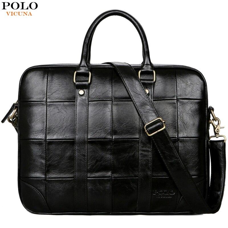 Викуньи поло плед дизайн большой ёмкость кожаная мужская сумка для мужчин бизнес ноутбук дорожная известный бренд