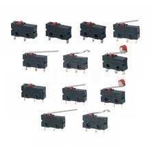 5 шт. мини микро концевой выключатель без NC 3 контакта PCB терминалы SPDT 5A 125 в 250 в 29 мм роликовый дуговой рычаг оснастки действия нажимные микропереключатели