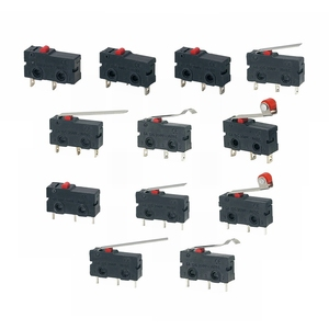 5Pcs Mini Micro Limit Switch NO NC 3 Pins PCB Terminals SPDT 5A 125V 250V 29mm Roller Arc lever Snap Action Push Microswitches(China)