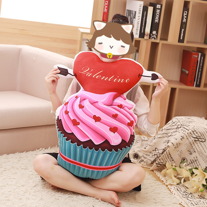 Sweet Icecream Cupcake Cushion Doughnut Chocolate Cake Pillow Home Room Decorations Children Kids Girls Boys Plush