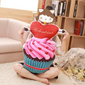 Sweet icecream cupcake cushion,doughnut chocolate cake pillow,home room decorations children kids girls boys plush toys candy
