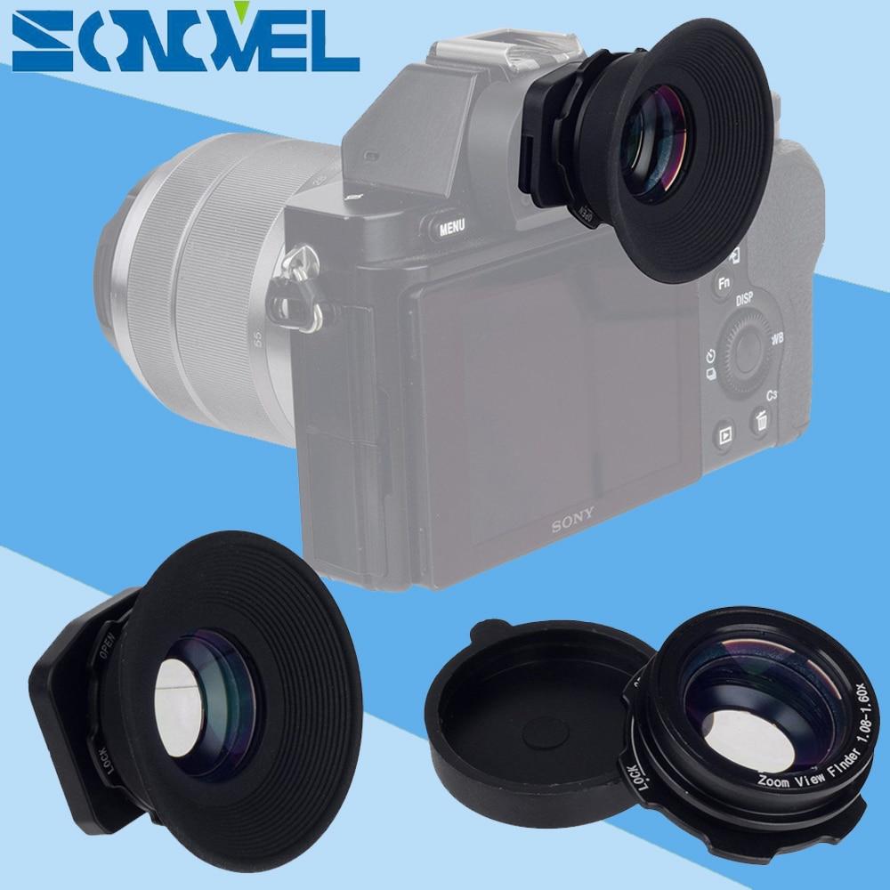 1.08x-1.60x Zoom Viewfinder Eyepiece Eyecup Magnifier for Nikon D7200 D7100 D7000 D5300 D5200 D800 D750 D600 D3100 D5000 D300