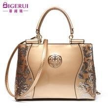 2016 designer handbags high quality luxury women patent leather messenger bag red bridal wedding bag set clutch bolsos mujer sac