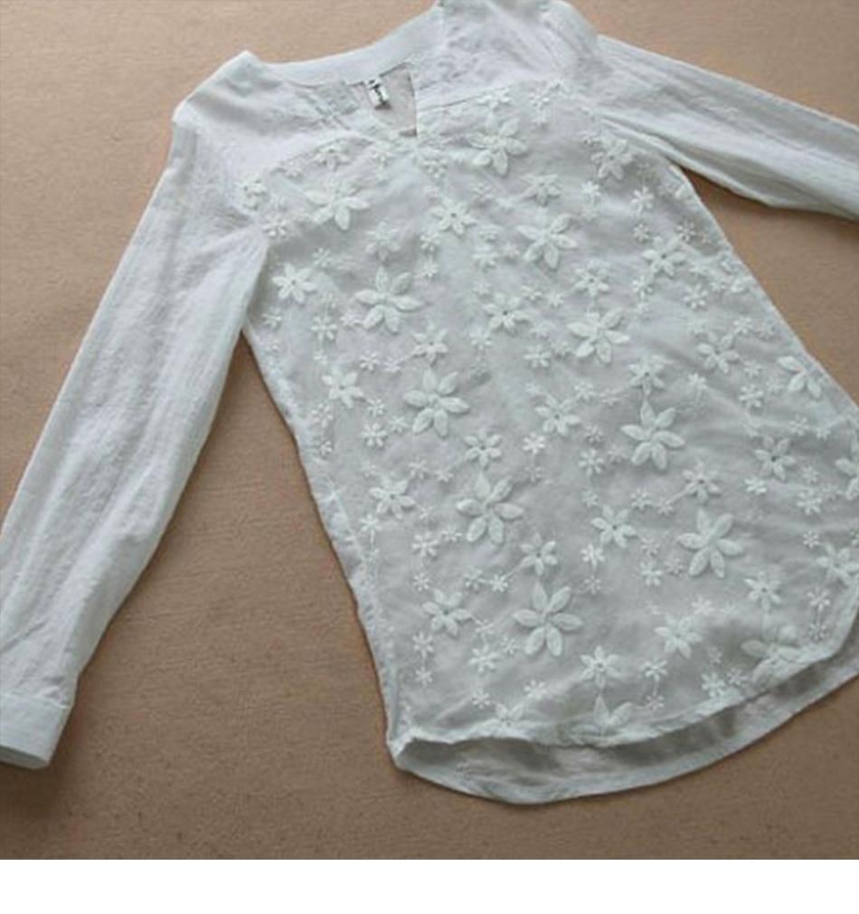 White Blouse Cotton Women