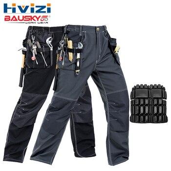 Abbigliamento da lavoro degli uomini pantaloni multi-tasche strumento di lavoro pantaloni da lavoro nero pantaloni da uomo abbigliamento da lavoro trasporto libero B129