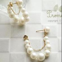 European And American Fashion Creative Imitation Pearl Earrings String Of Retail And Wholesale(China)