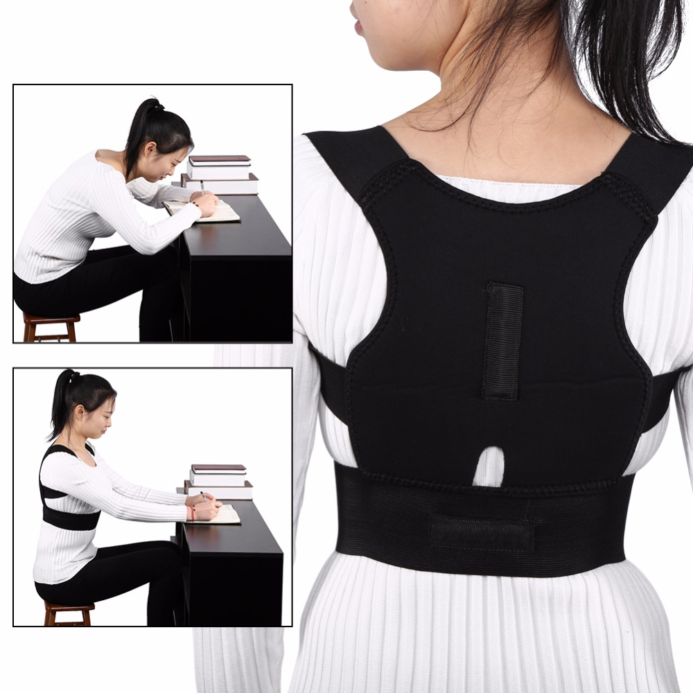 Adjustable Back Brace Posture Corrector Back Spine Support Brace Belt Shoulder Lumbar Correction Bandage Corset For Men Women hunchback kids children posture adjustable back support corrector belt brace for boys girls band
