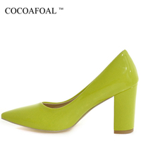 COCOAFOAL Woman Red Wedding Pumps Plus Size 33 43 White Sexy High Heels Shoes Black Green