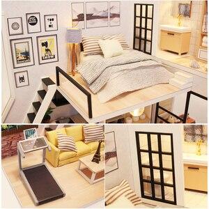 Image 3 - Cutebee أثاث بيت الدمية دمية مصغرة لتقوم بها بنفسك صندوق غرفة منزل مصغر مسرح لعب للأطفال Casa لتقوم بها بنفسك دمية P