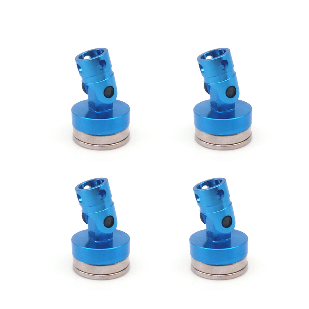 4PCS Aluminum Magnetic Stealth Invisible Body Post Mount for 1:10 RC Car HSP Tamiya RC Crawler Axial SCX10 RC4WD D90