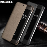 Huawei P10 Case Leather Flip NKOBEE Original Huawei P10 Case Display Window Smart Cover Huawei P10