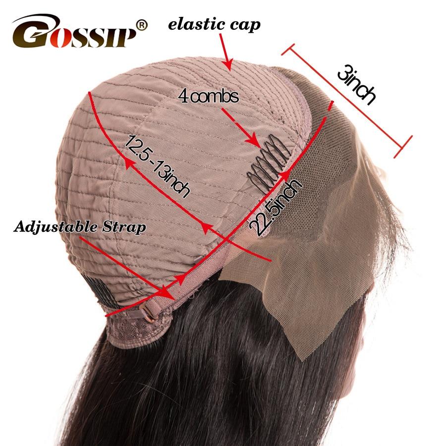 Wig Body Wang Dantel Leshi Parukë Paruke të Veshura Parafjalë - Flokët e njeriut (të zeza) - Foto 5