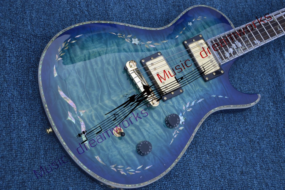 China  firehawk OEM shop  electric guitar  Color shell inlaid in the body, very beautiful electric guitar free shipping wholesale new fen st custom shop electric guitar oem brand sky blue color guitar guitar in china