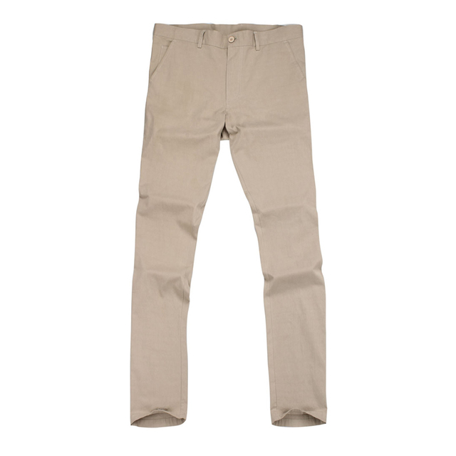 533ff920a6 US $11.91 45% OFF|Hot Sale Men Casual Pants Slim Cotton Pant Straight  Trousers High Quality Fashion Business Solid Pants Wholesale Price F50-in  Casual ...