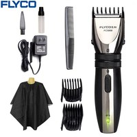 Flyco Professional Electric Hair Clipper Rechargable Hair Trimmer For Men Beard Trimmer Hair Cutting Machine 2pcs