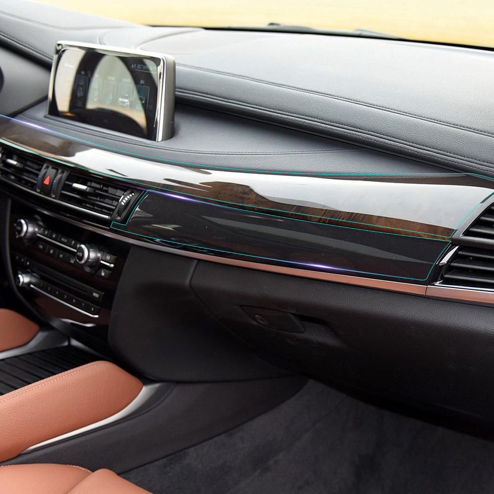Anti scratch car interior console gear panel clear - Automotive interior protective film ...