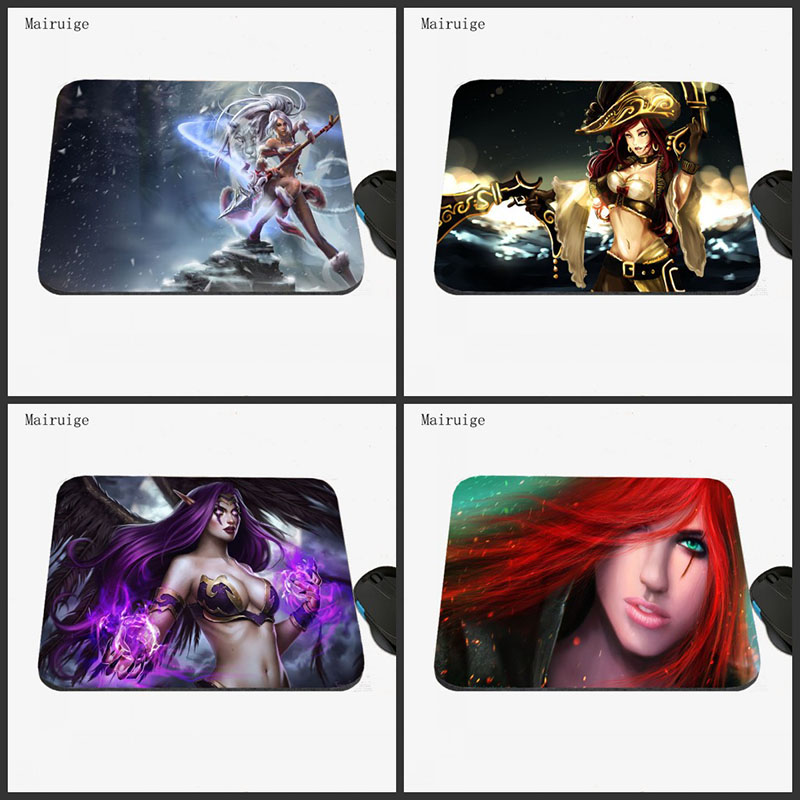 Mairuige <font><b>Hot</b></font> Sale League of Legends <font><b>Sexy</b></font> <font><b>Girls</b></font> Mousepads Computer Gaming Mouse Pad Laptop Gaming Mice Play Mat <font><b>18</b></font>*22cm/ 25*29cm image